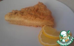 Рецепт Лимонный пирог с творогом на песочном тесте