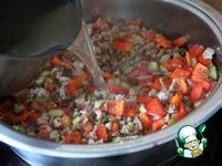 Итальянская сковорода с фаршем, овощами и рисом ингредиенты