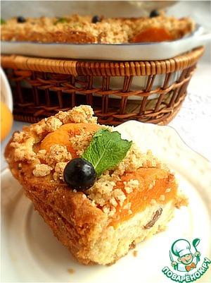 Рецепт Творожно-абрикосовая ватрушка с овсяным штрейзелем