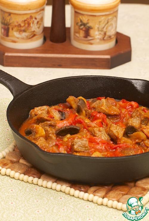 Мясо курица по-французски с помидорами в духовке рецепт с фото
