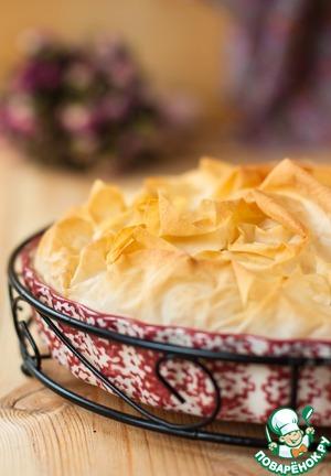Рецепт Пирог из теста фило с горбушей