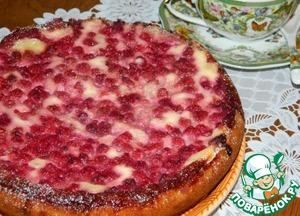 Рецепт Пирог с творогом и малиной