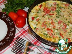 Рецепт Рыба с овощами в омлете