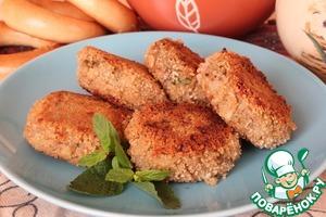 Рецепт Котлетки из печёных овощей и гречневых хлопьев