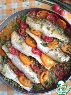 Рецепт Нежная рыбка с горохом