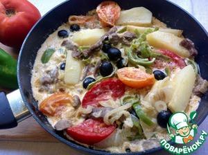 Рецепт Филе говядины в сливочном соусе