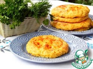 Рецепт Кукурузно-картофельные лепешки с брынзой