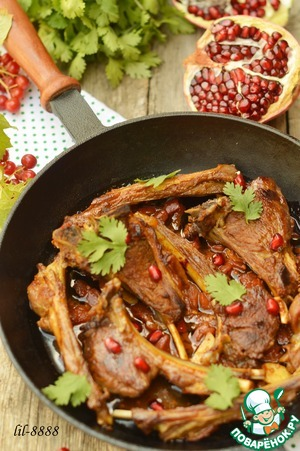 Рецепт Баранина в гранатовом соусе