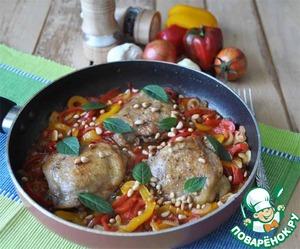 Рецепт Курица с Сицилийской пеперонатой