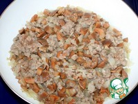 Капустный пирог с мясом и грибами на сковороде ингредиенты