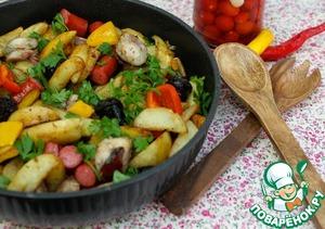Рецепт Картофельная сковорода с колбасками