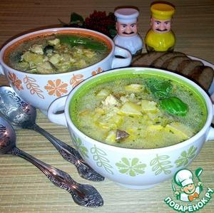 Рецепт Суп с белыми грибами и курицей
