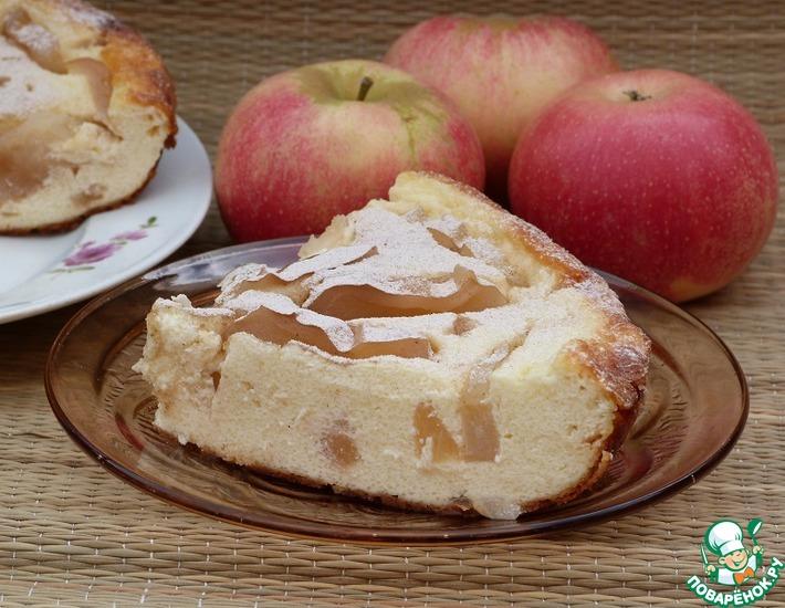 Творог с яблоками в мультиварке