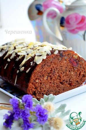 Рецепт Шоколадный кекс с орехами и вишней