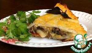 Рецепт Картофельная запеканка с курицей и овощами под сырной корочкой