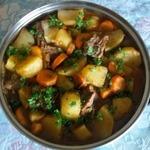 Тушеный картофель по-камерунски