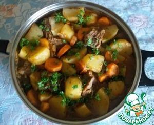 Рецепт Картофель тушеный по-камерунски