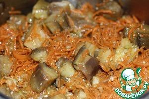 Рецепт Баклажаны по-корейски с морковью
