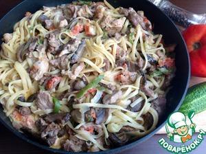 Рецепт Лапша с мясом по-Провансальски
