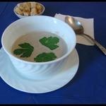 Суп-пюре грибной со сливками