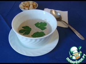 Рецепт Суп-пюре грибной со сливками