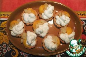 Рецепт Корзиночки с кремом и фруктами