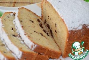 Рецепт Простой кекс с шоколадом в хлебопечке