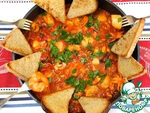 Рецепт Соте из морепродуктов
