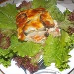 Запеканка из баклажан с цветной капустой