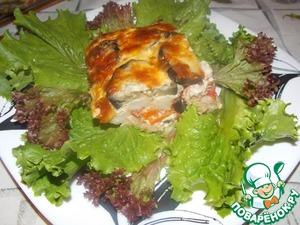 Рецепт Запеканка из баклажан с цветной капустой
