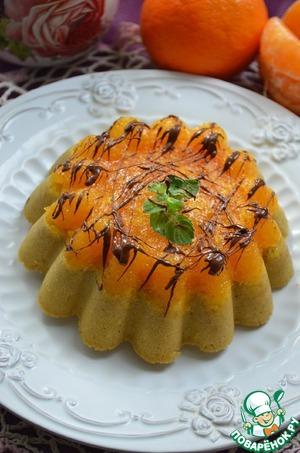 Рецепт Кофейный пирог с мандаринами