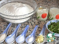 """Индийская лепешка """"Наан"""" с чесноком и зеленью ингредиенты"""