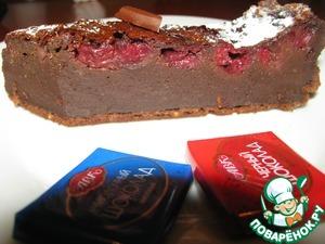 Рецепт Шоколадный Клафути с вишней
