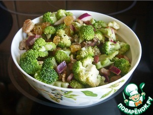 Рецепт Салат из сырой брокколи