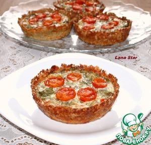 Рецепт Овощные мини-киши в творожно-овсяных тарталетках