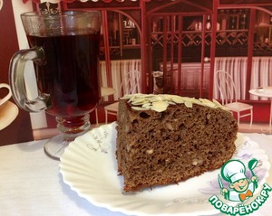 """Рецепт Шоколадно-кофейный пирог с орехами """"Белочка"""""""