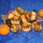 Кокосовые кексики с мандаринами