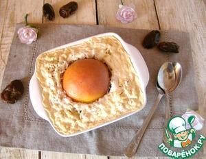 Рецепт Персики в овсяном пудинге