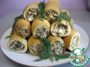 Рецепт Куриный салат в хлебных стаканчиках