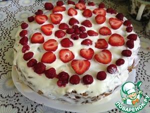 Рецепт Бисквитный торт со сметанным кремом