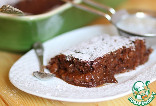Шоколадный десерт в собственном соку