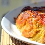 Мясной злаковый пирог с томатами и базиликом