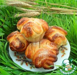 Утренние булочки с коричной начинкой