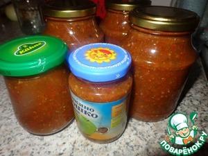 Рецепт Томатный соус с кинзой или мой домашний кетчуп (на зиму)