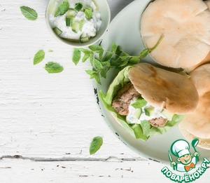 Рецепт Греческий бургер с йогуртовым соусом