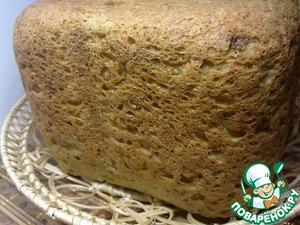 Рецепт Хлеб овощной с овсяными хлопьями в хлебопечке