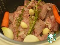 Рийет из кролика с овощами и кизилом ингредиенты