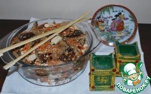 Рецепт Грибной салат с тофу