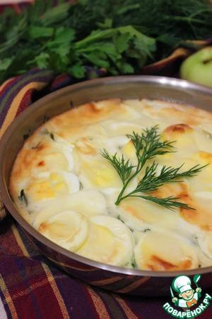 Рецепт Запеканка из сельди и яиц в сковороде