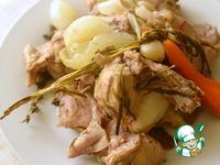 Рийет из кролика с овощами и кизилом Морковь